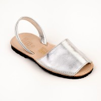 Leather Spanish Sandals in Silver, Gold, Camel