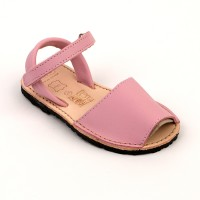 Leather Spanish Sandals in Pink, Red & Navy