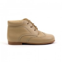 TI132 Camel Leather Lace up Brogue Boot