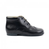 TI132 Navy Leather Lace up Brogue Boot