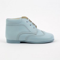 TI132 Pale Blue Leather Lace up Brogue Boot