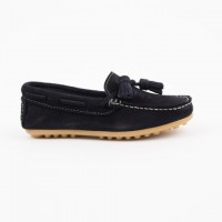 515 Navy Suede Loafer with Tassels