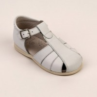 Leather Spider Sandal (Navy, Tan, White, Sand)