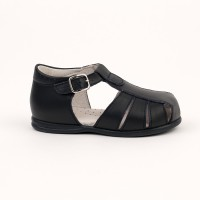 105-G Nens Navy Leather Spider Sandal