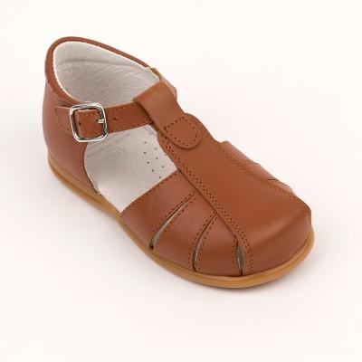 105-E Nens Tan Leather Spider Sandal