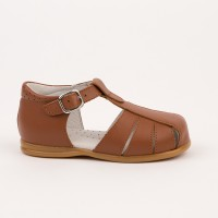 105-G Nens Tan Leather Spider Sandal