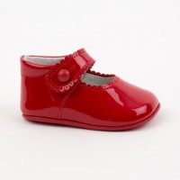 2240 Red Patent Mary Jane Pram Shoe