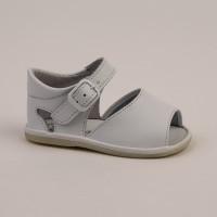 8093 - White Open Toe Pram Sandal