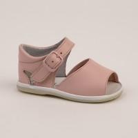 8093 - Pink Open Toe Pram Sandal
