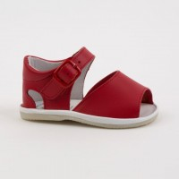 8093 - Red Open Toe Pram Sandal