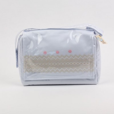 Pram Bag with Beige embroidery amd spots