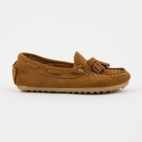 515 Tan Suede Loafer with Tassels