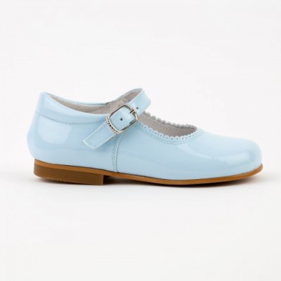 1554 Pale Blue Patent Mary Jane