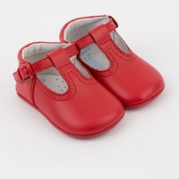Leather T-Bar Pram Shoe