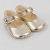 Leather Mary Jane Pram Shoe
