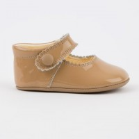 TI114 Camel Patent Mary Jane Pram Shoe