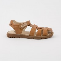70157-P Nens Tan Leather Spider Strappy Sandal
