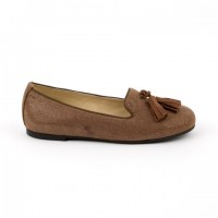 4715 Slipper Loafer with Suede Tassel