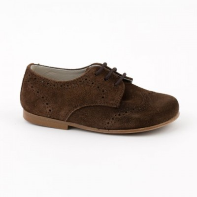 13014 Brown Suede Lace up Brogue
