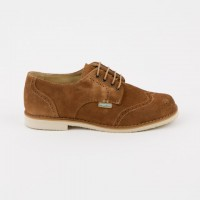 402 Tan Suede Brogue