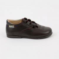 505 Brown Lace up Brogue Shoe