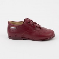 505 Burgundy Lace up Brogue Shoe