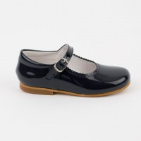 1554 Navy Patent Mary Jane