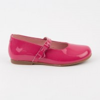 4562 Fuscia Patent Bow Dolly Shoe
