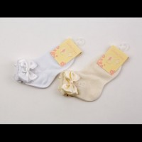 Cotton Ankle socks with Satin Bow