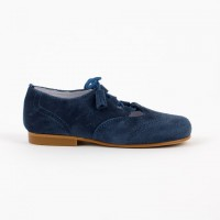 3307 Blue Suede Lace up Shoe