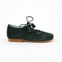 3307 Green Suede Lace up Shoe