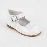 Patent High Back Mary Janes with Ribbon Bow