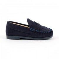 TI106 Navy Suede Loafer