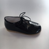 370005 Navy Patent Lace up Shoe