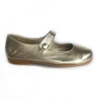 Leather Mary Janes (Silver, Gold)