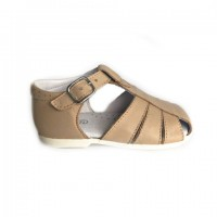 105-G Nens Sand Leather Spider Sandal