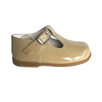 Patent T-Bar Shoe (Camel, White, Pale Blue, Pink)