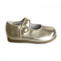 277-P Nens Gold Leather Mary Janes (sizes 19-24)