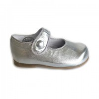 277-P Nens Silver Leather Mary Janes (sizes 19-24)