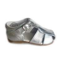 CL-10300 Nens Silver Leather Spider Sandal
